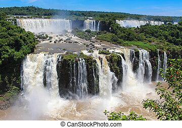 Iguazu Falls or Igua?u Falls are waterfalls of the Iguazu...