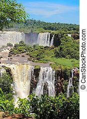 Iguazu Falls or Igua?u Falls are waterfalls of the Iguazu...