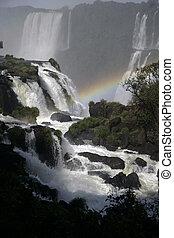 Iguazu Falls, Iguassu Falls, or Iguaçu Falls, National Park...