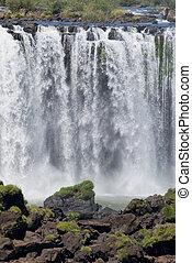 iguazu falls - part of the iguazu falls, seen from the...