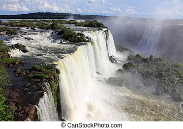 Water running on Iguazu falls
