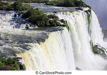 Iguazu Falls - Water running on Iguazu falls