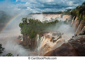 iguazu, wasserfälle, prächtig, argentinien, unglaublich