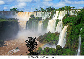 Iguazu water falls in Misiones province, Argentina