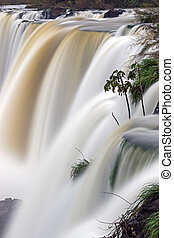 Iguazu waterfall in motion