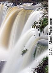 Iguazu waterfall in motion