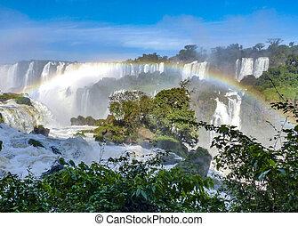 Iguazu waterfalls at Border of Brazil and Argentina.