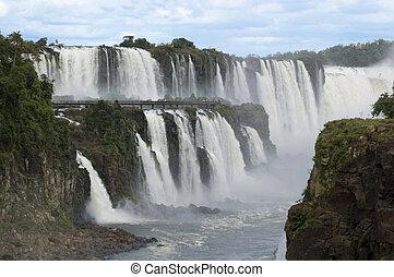 Iguazu Waterfalls in Argentina - The massive waterfalls of...