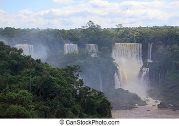 Iguazu waterfalls on the border of Argentina and Brazil