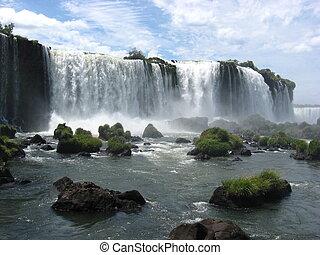 iguazufalls, 브라질, 남아메리카