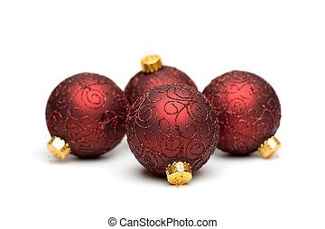 ii, árvore, ornamentos natal