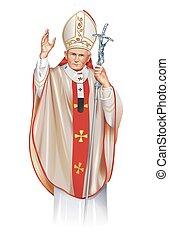 ii , παύλοs , γιάννηs , πάπας , άγιος