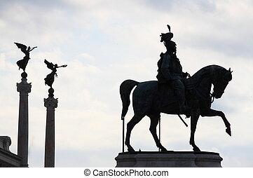 ii, 勝利者の emmanuel, 乗馬者, 記念碑