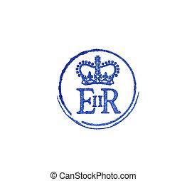 ii, logo, królowa elizabeth