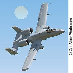 ii, vettore, fulmine, a-10, warthog