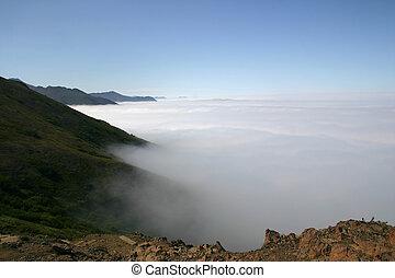 ii, wolken, boven