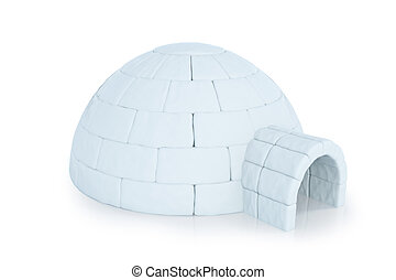 Iigloo isolated on white background. 3d rendering