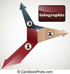 iinfographic, szablon, wektor