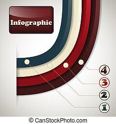 iinfographic, wektor, szablon