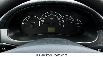 Iinstrument panel of the car