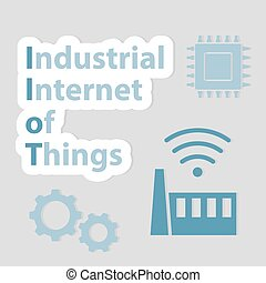 IIoT (Industrial Internet of Things) concept - vector illustration