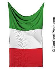 IItalian flag on white background