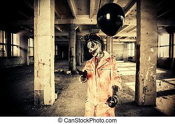 ijedős, balloon, fekete