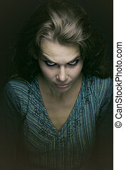 ijedős, nő, rossz, kísérteties