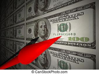 ijedtség, pénzel