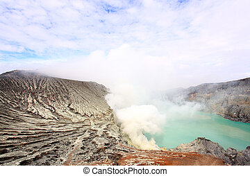 ijen, khava, indonesia., java