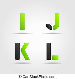 ijkl, verde