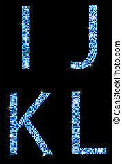 i,j,k,l,with mosaic texture