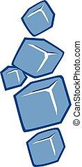 ijs kubeert, pictogram