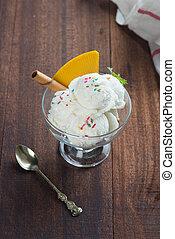 ijs, vanilla crème