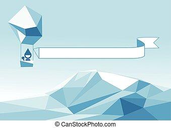 ijsberg, aerostat, boven