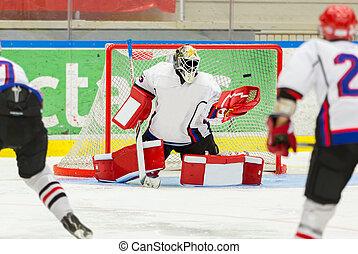 ijshockey, goalie