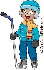 ijshockey, jongen