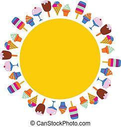 ijsje-oomen, anders, kleurrijke, achtergrond