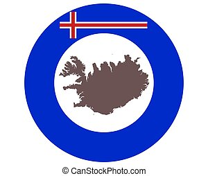 ijsland, achtergrond, kaart, vlag