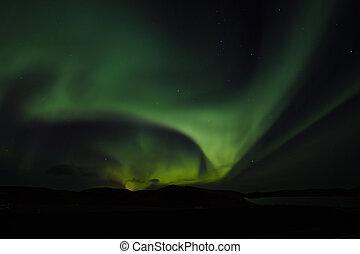 ijsland, dageraad, noorderlicht, borealis