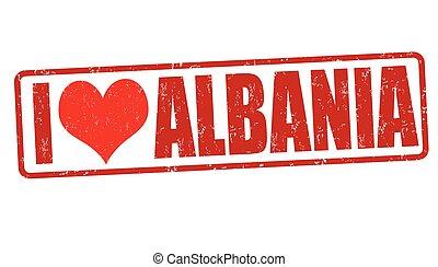 ik, liefde, albanië, postzegel