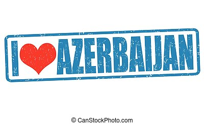 ik, liefde, azerbaijan, postzegel