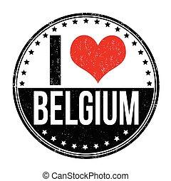 ik, liefde, belgie, postzegel
