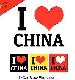 ik, liefde, china, meldingsbord, en, etiketten