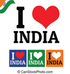 ik, liefde, india, meldingsbord, en, etiketten
