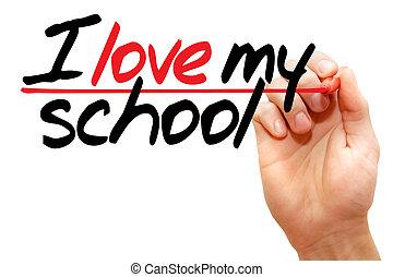 ik, liefde, mijn, school