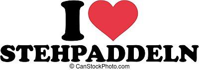ik, liefde, opstaan, paddling, duitser