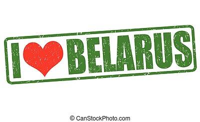 ik, liefde, wit-rusland, postzegel