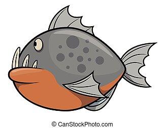 ikan, piranha
