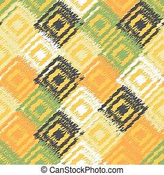 Ikat fabric seamless background